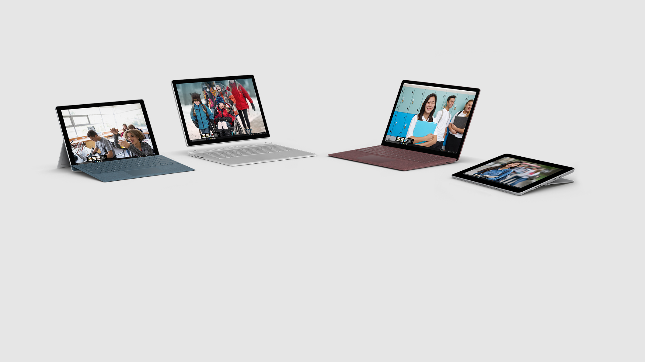 Surface Go, Surface Laptop 2, Surface Pro 6, Surface Book 2