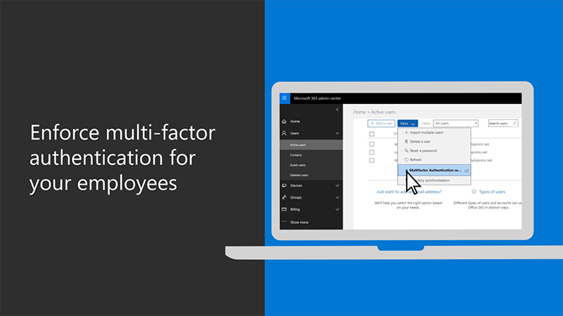 Enforce multi-factor authentication for your employees