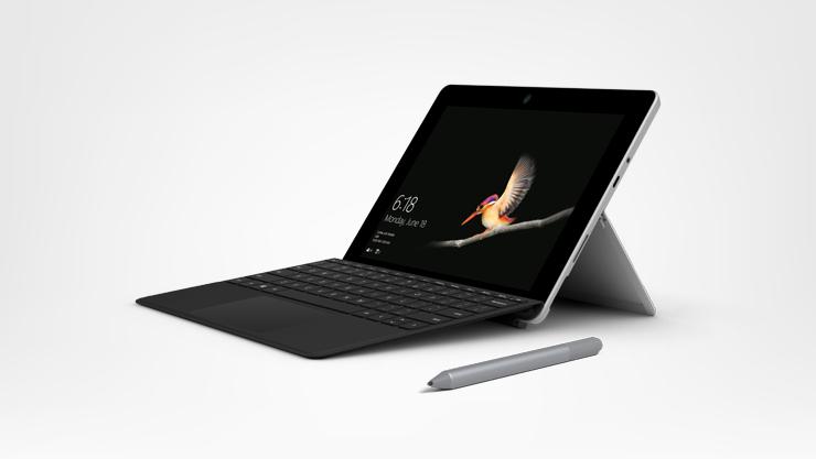 Surface Go, clavier type cover signature noir et stylet Surface platine