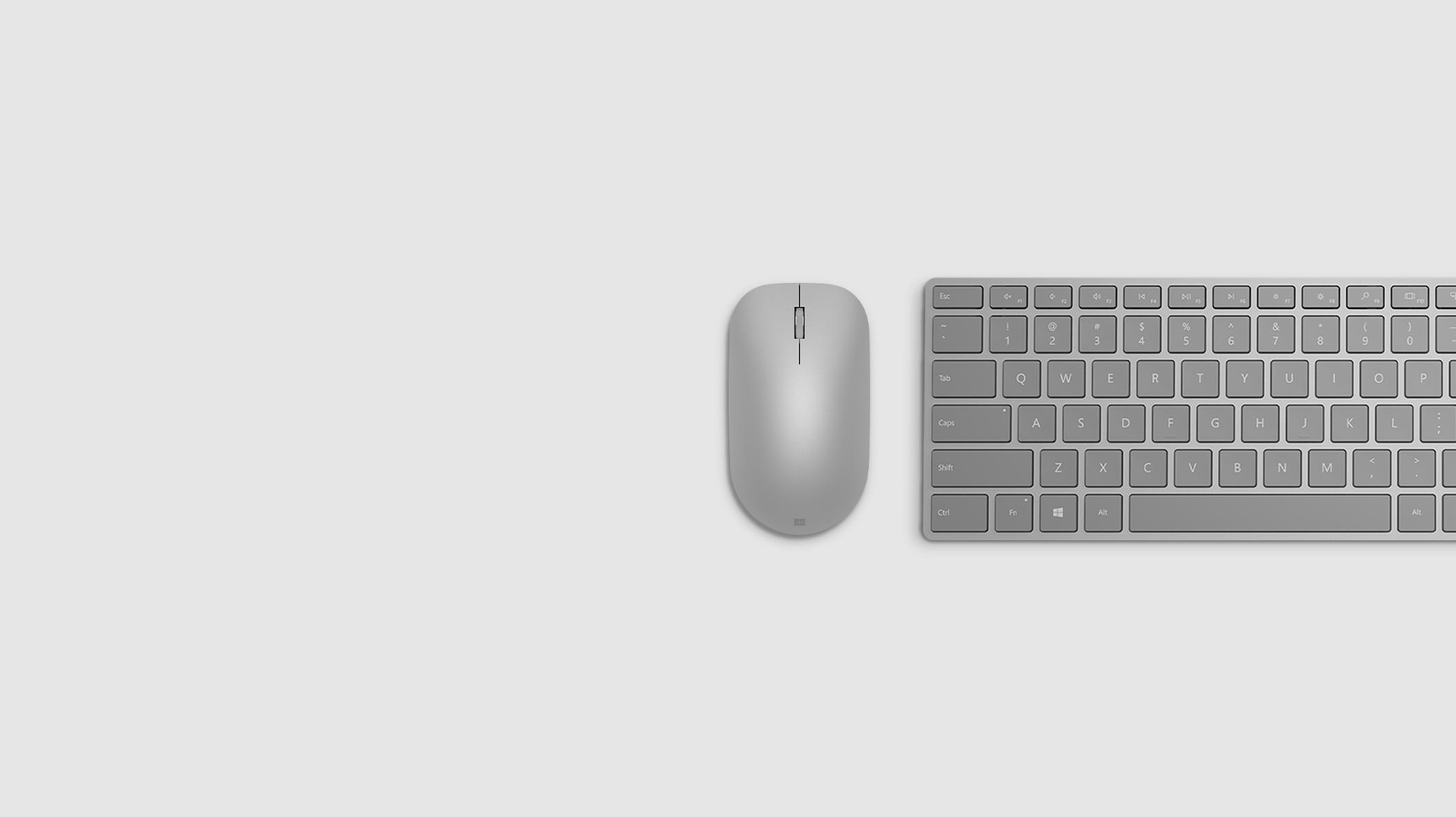 modern mouse, wireless keyboard