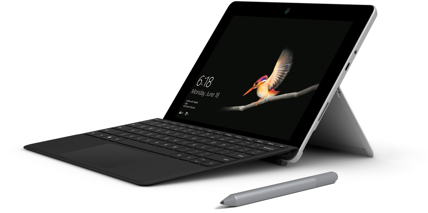 Surface Go mit Type Cover und Surface Pen