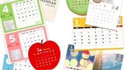 色んな種類のたくさんのオリジナル カレンダー
