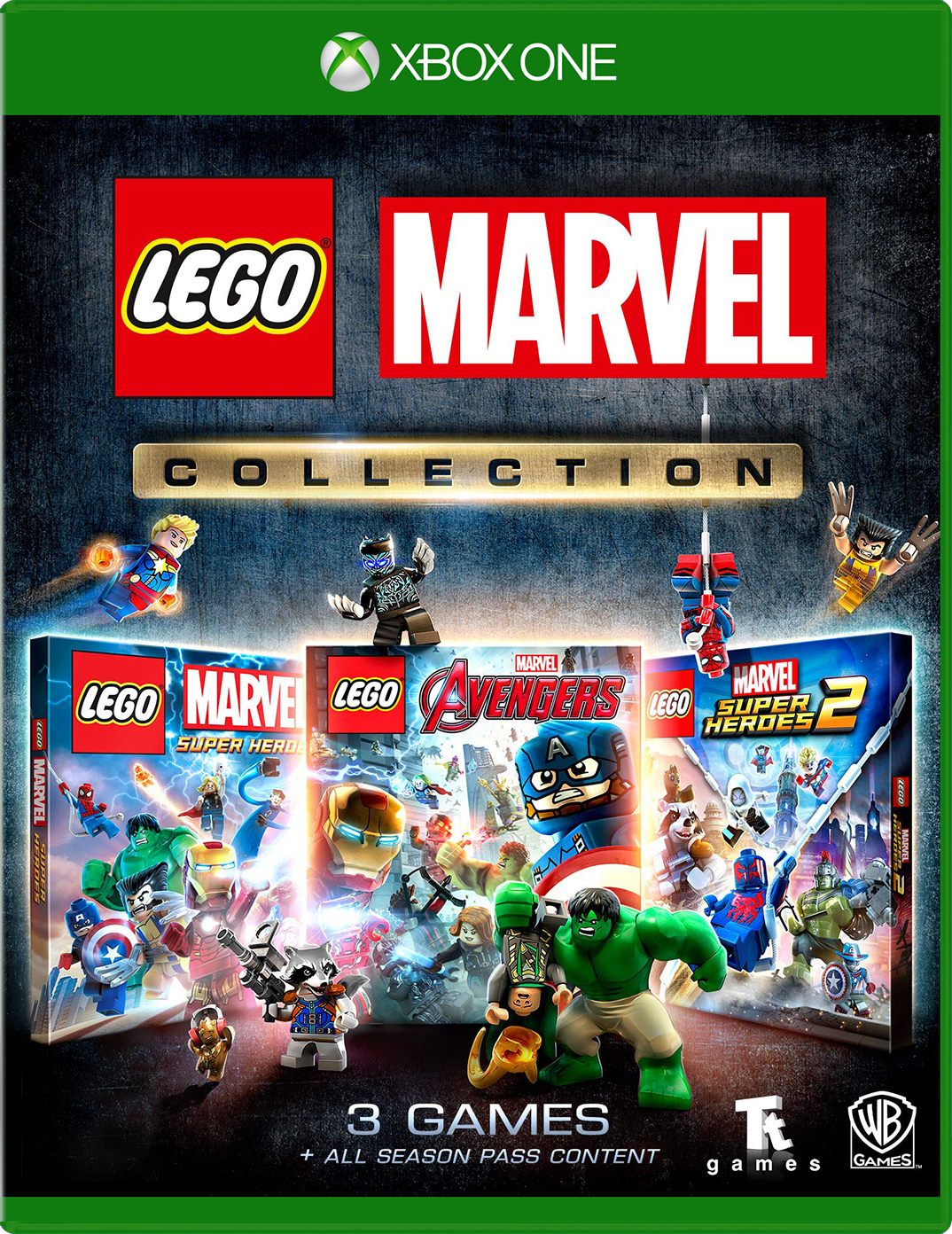 LEGO Marvel collection for Xbox One game box