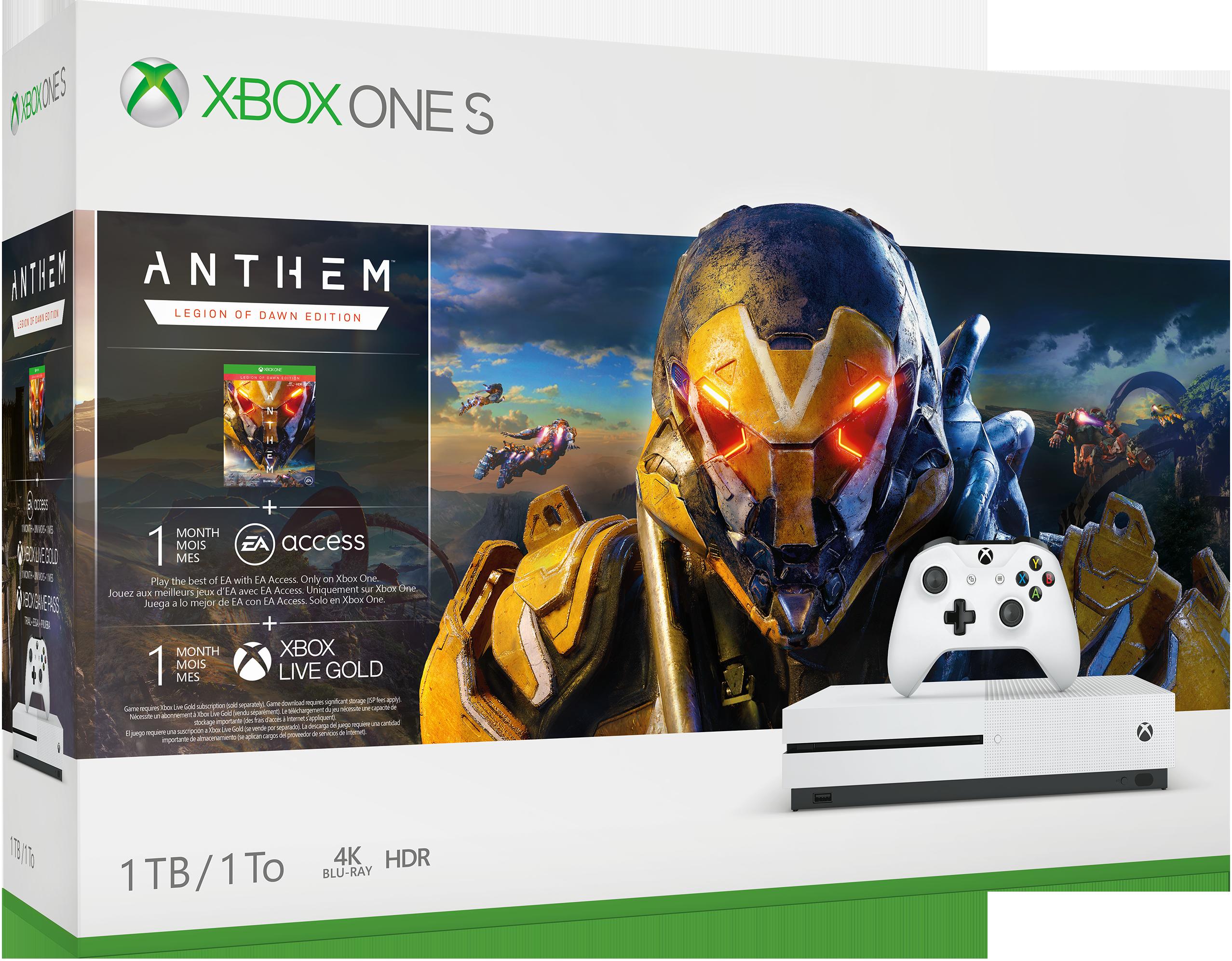 Xbox One S bundle box art