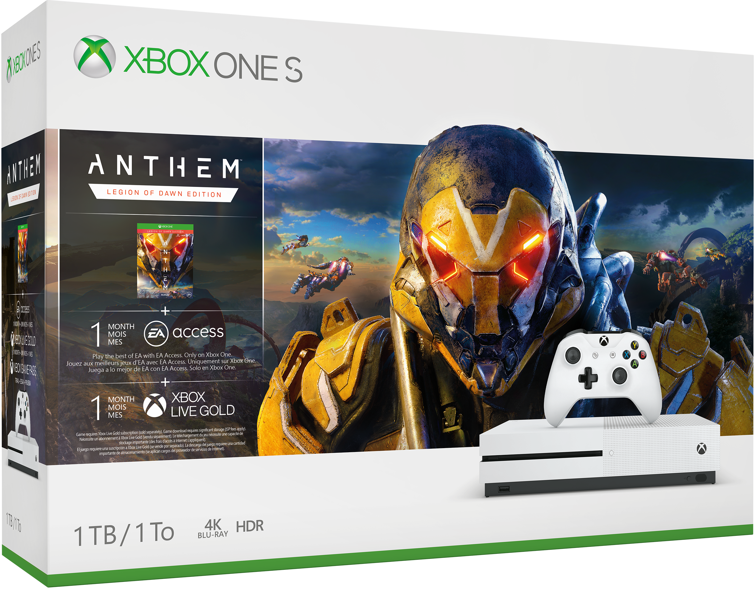 Boîtier du pack Anthem Xbox One S