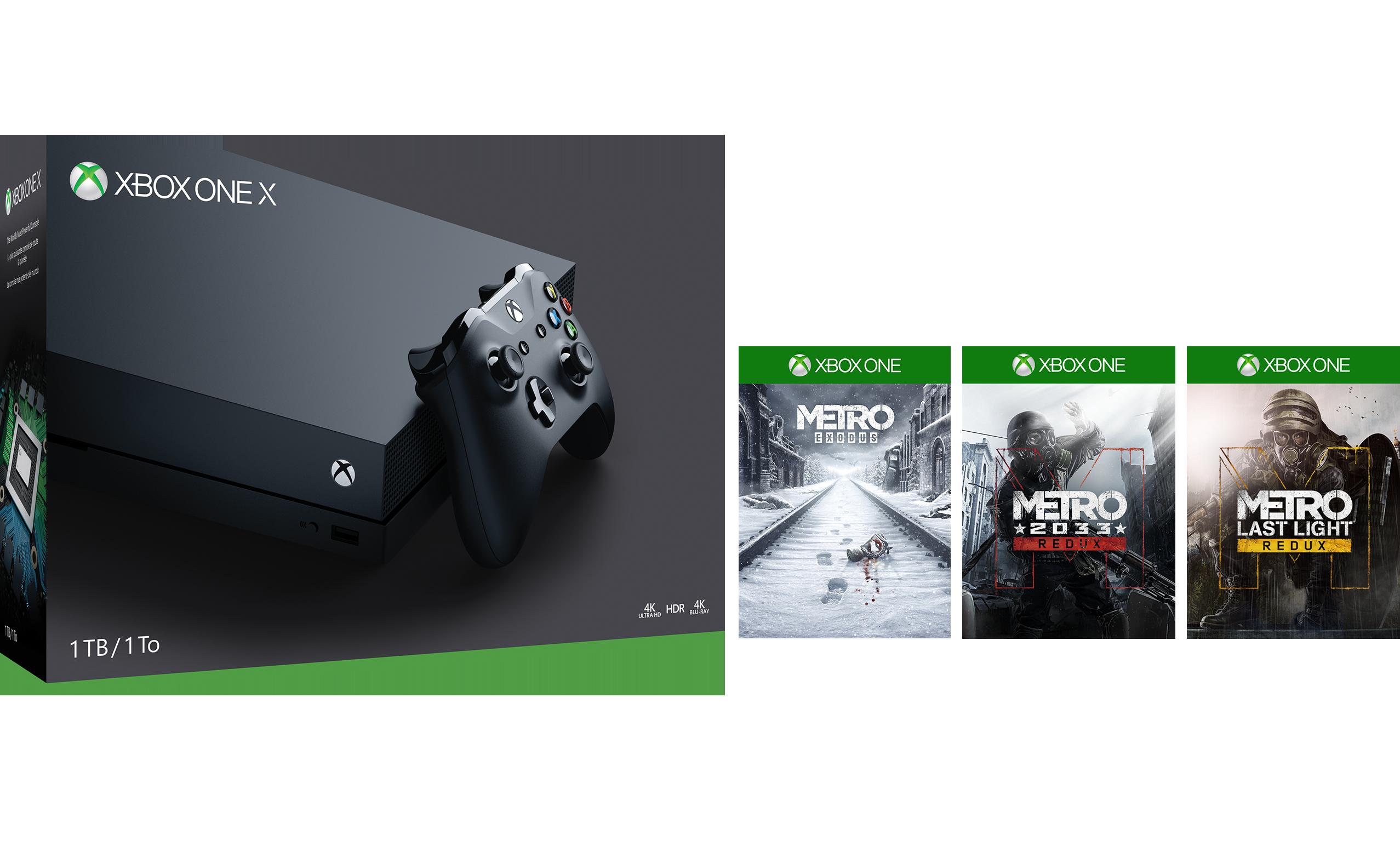 Xbox One X 1TB Console – Metro Saga Bundle