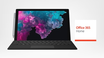 Surface Pro 6, Type Cover, Office 365