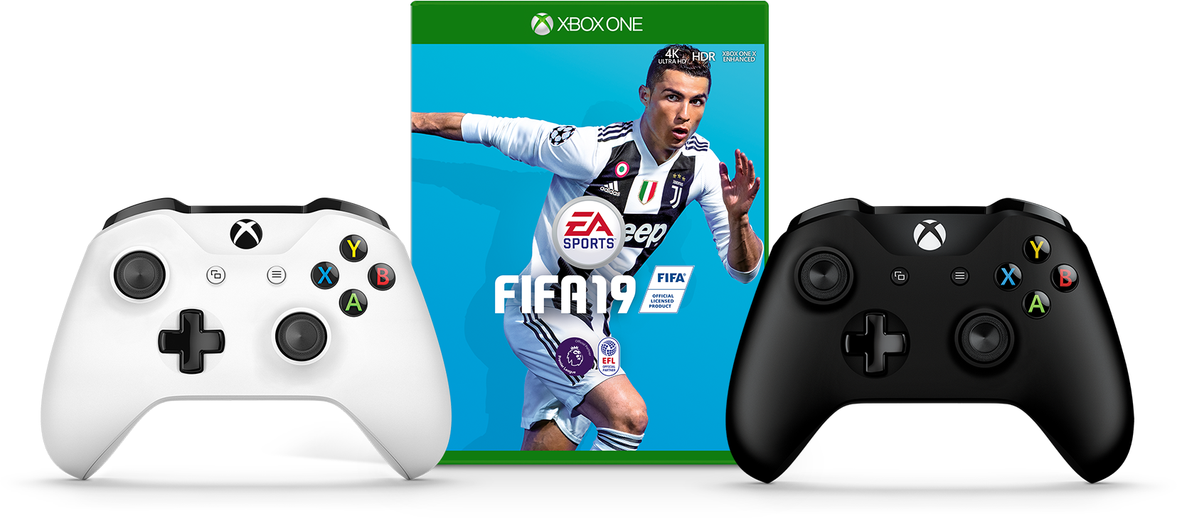 FIFA 19, Xbox Wireless Controller - Black, Xbox Wireless Controller - White