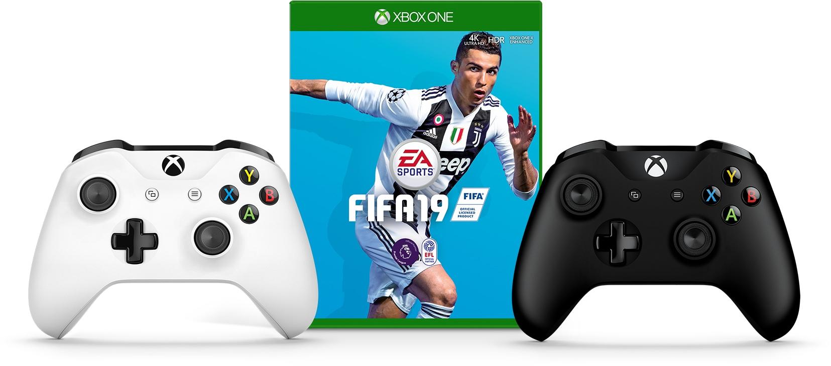 FIFA 19, Xbox Wireless Controller - Black, Xbox Wireless Controller - White