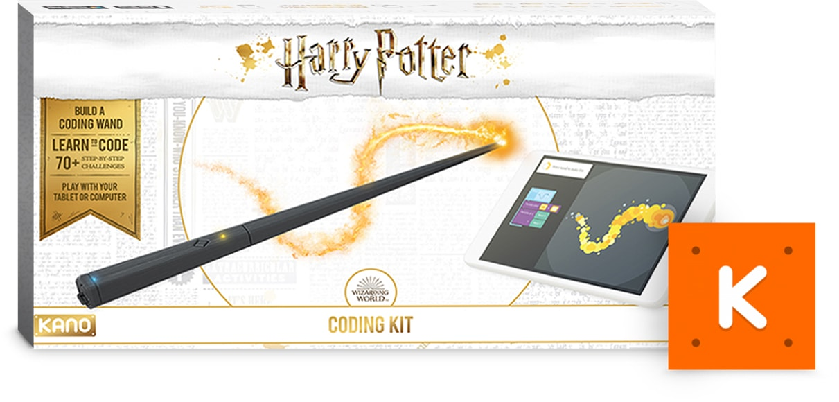 A Harry Potter Kano Coding Kit and the accompanying app