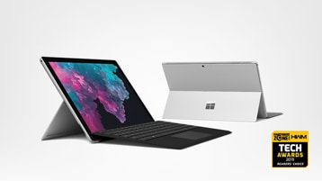Surface Pro 6 and Tech Awards 2019 on display