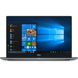 Front view of open Dell XPS 15 9570