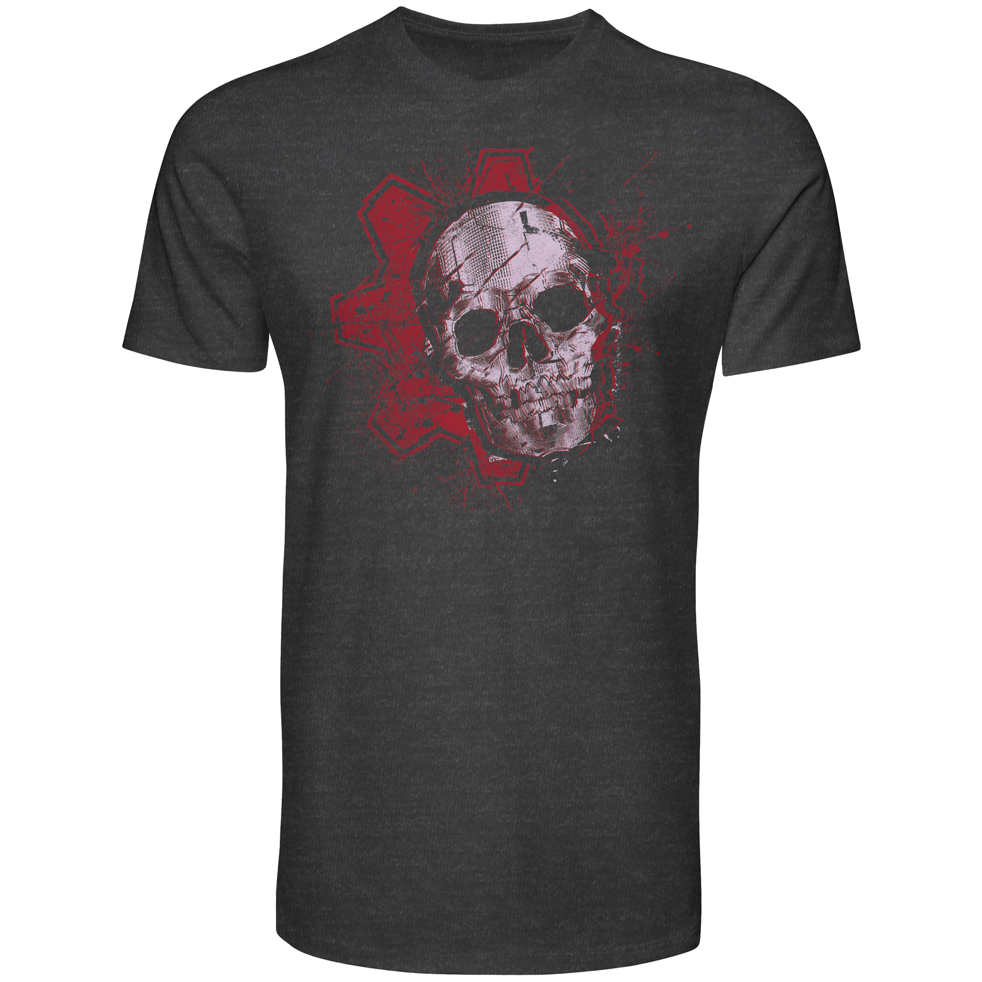 Grey Men's Gears of War T-shirt