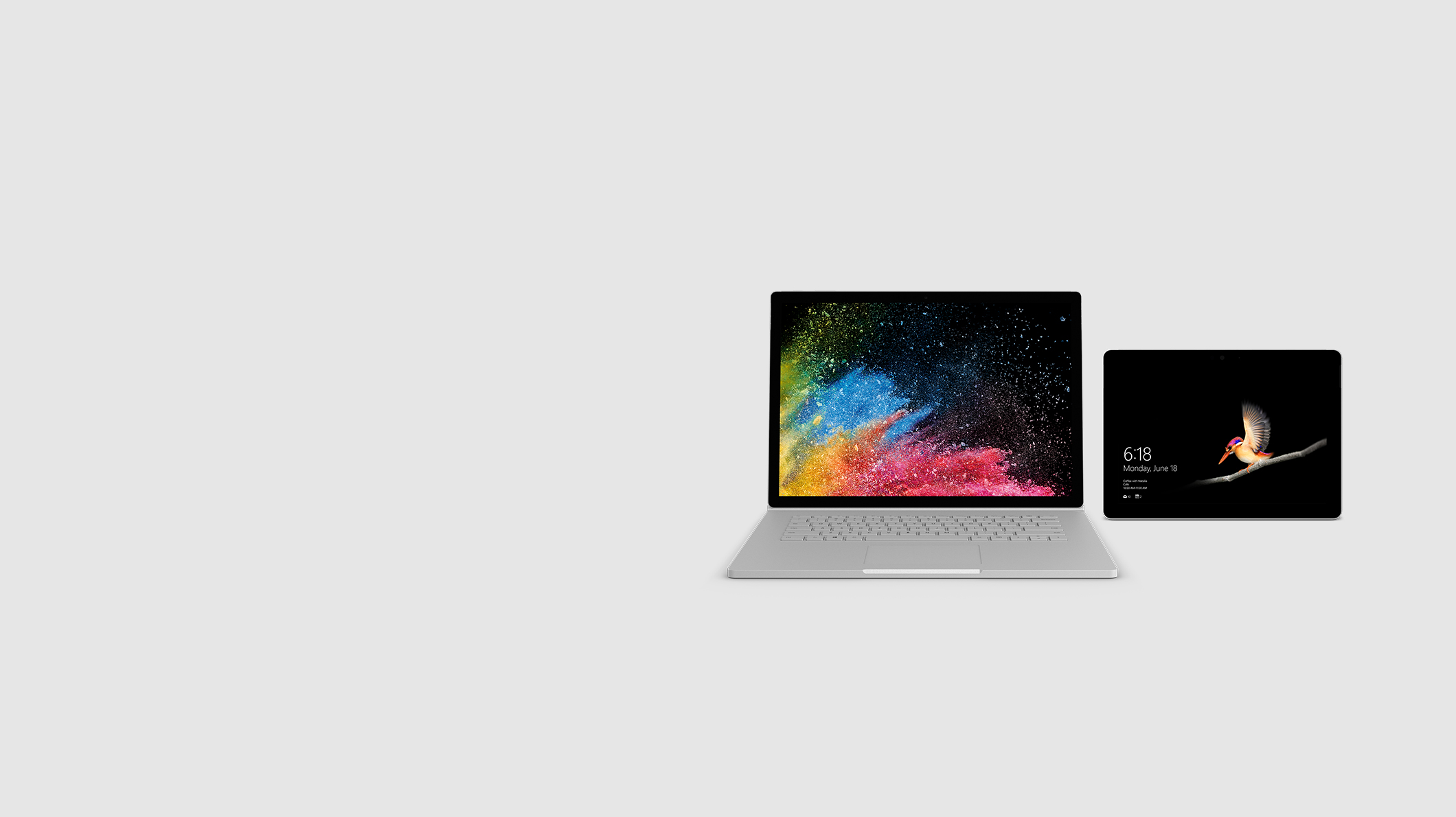 Surface Book 2 and Surface Go