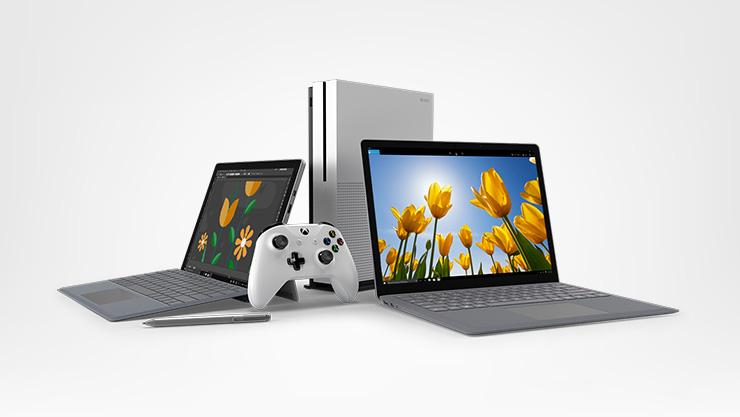 Surface und Xbox