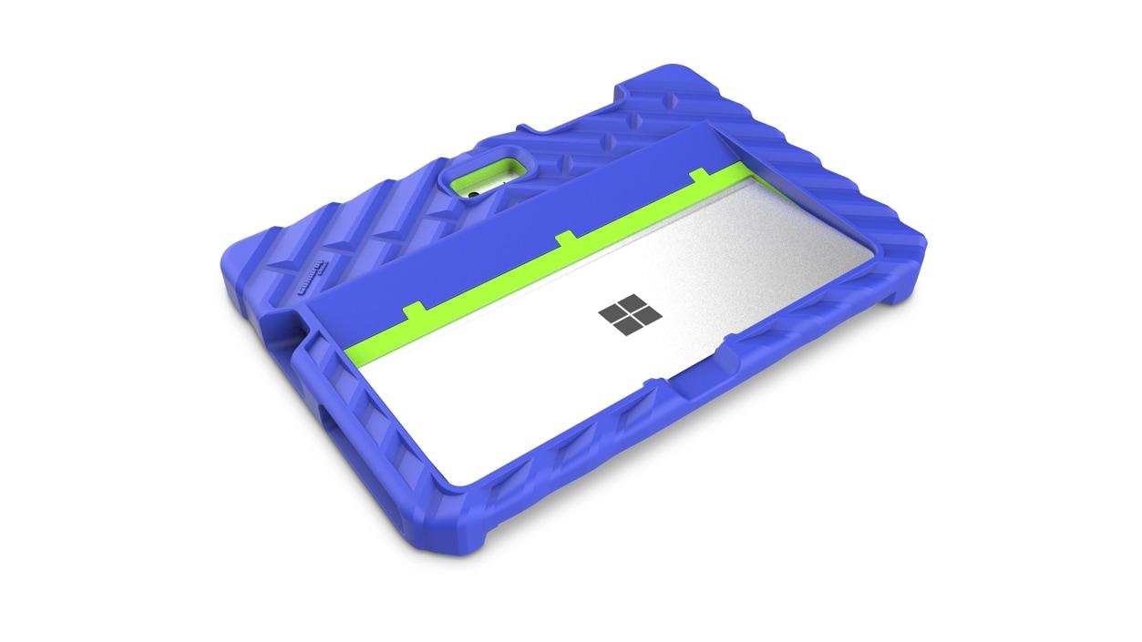 Gumdrop Foam Tech Case for Surface Go in Royal Blue/Lime
