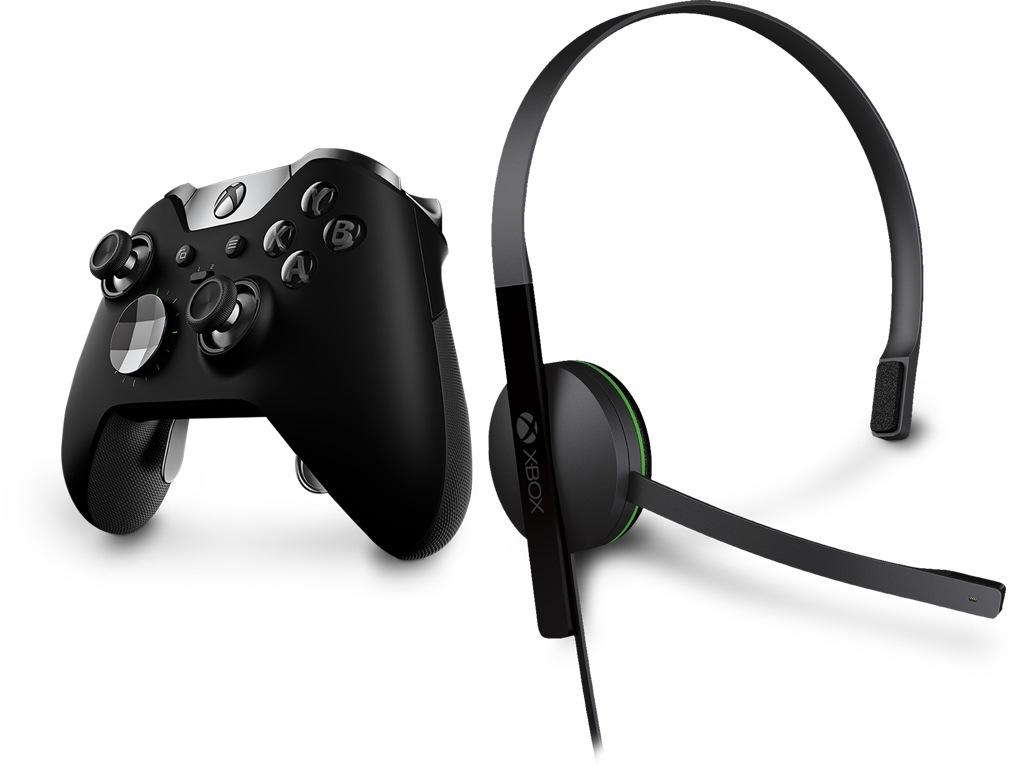 Xbox Elite Wireless Controller - Black, Xbox One Chat Headset