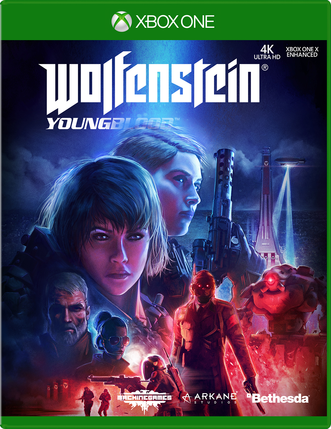 Wolfenstein Youngblodd Xbox One Game Cover