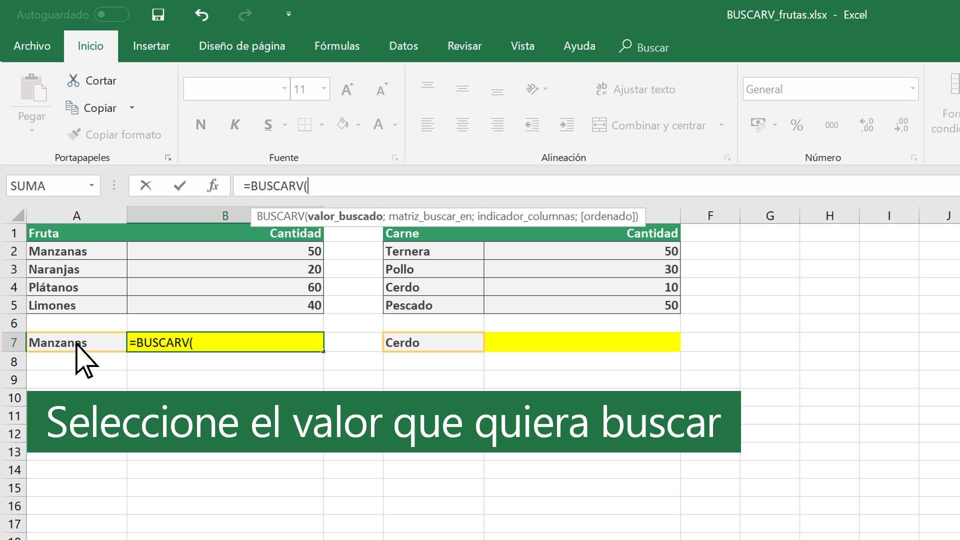 Formula Buscarv En Excel 20 Ingles