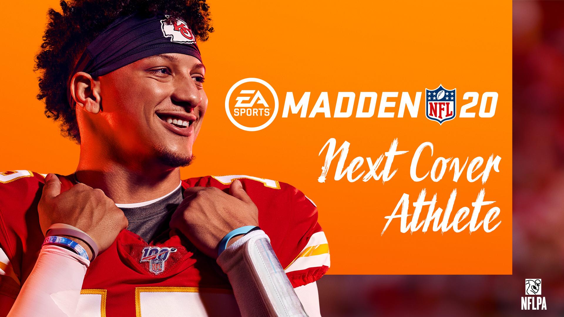 2246f93d479 Play; EA Sports Madden NFL 20 logo, Next Cover Athlete, NFLPA logo, Kansas  City