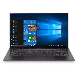 Front view of open Acer Swift 7 laptop