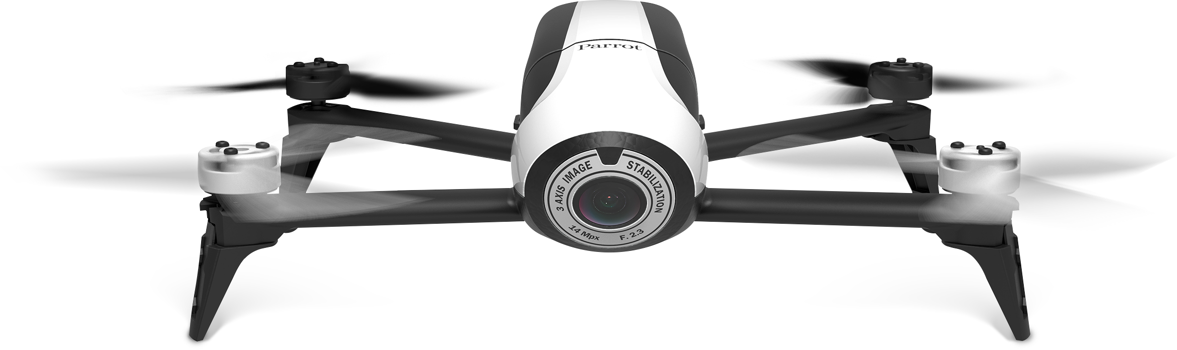 Front view of Parrot Bebop Drone 2