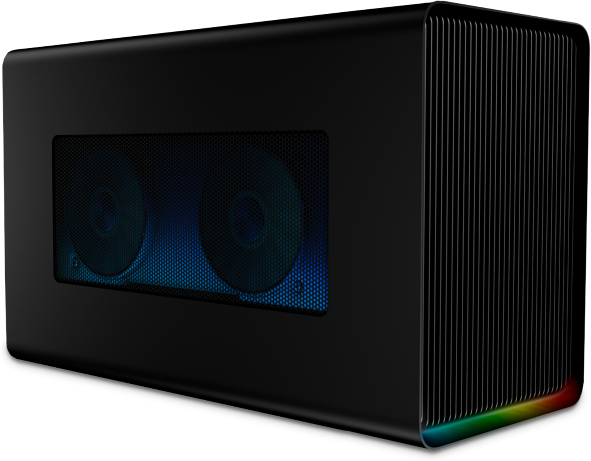 Razer Core X Chroma External Graphics Enclosure Transform your laptop into a desktop-class gaming powerhouse with this advanced graphics enclosure, complete with gaming-grade power, ports and Razer Chroma.