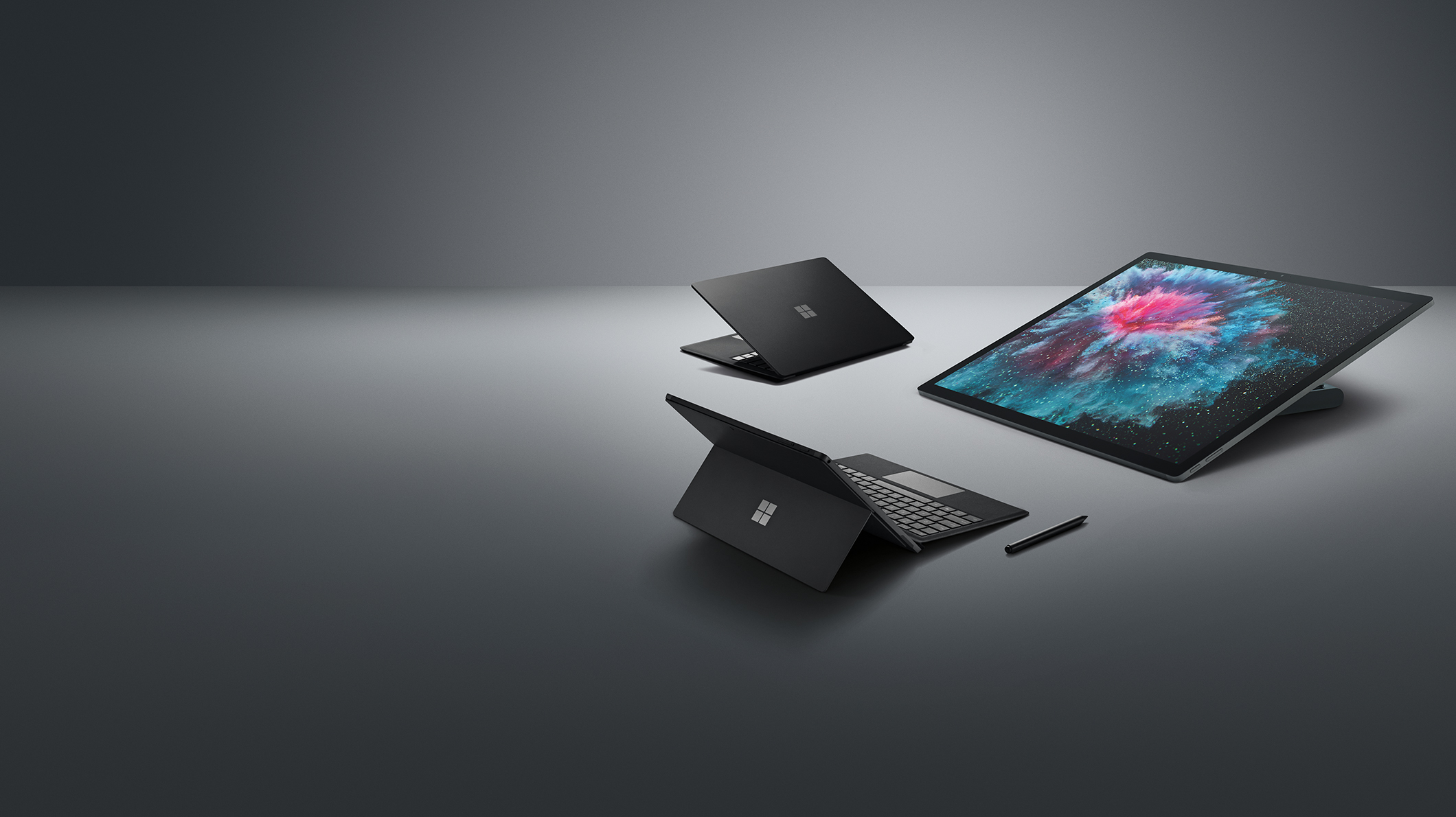 Surface Studio 2, Surface Pro 6, Surface Laptop 2