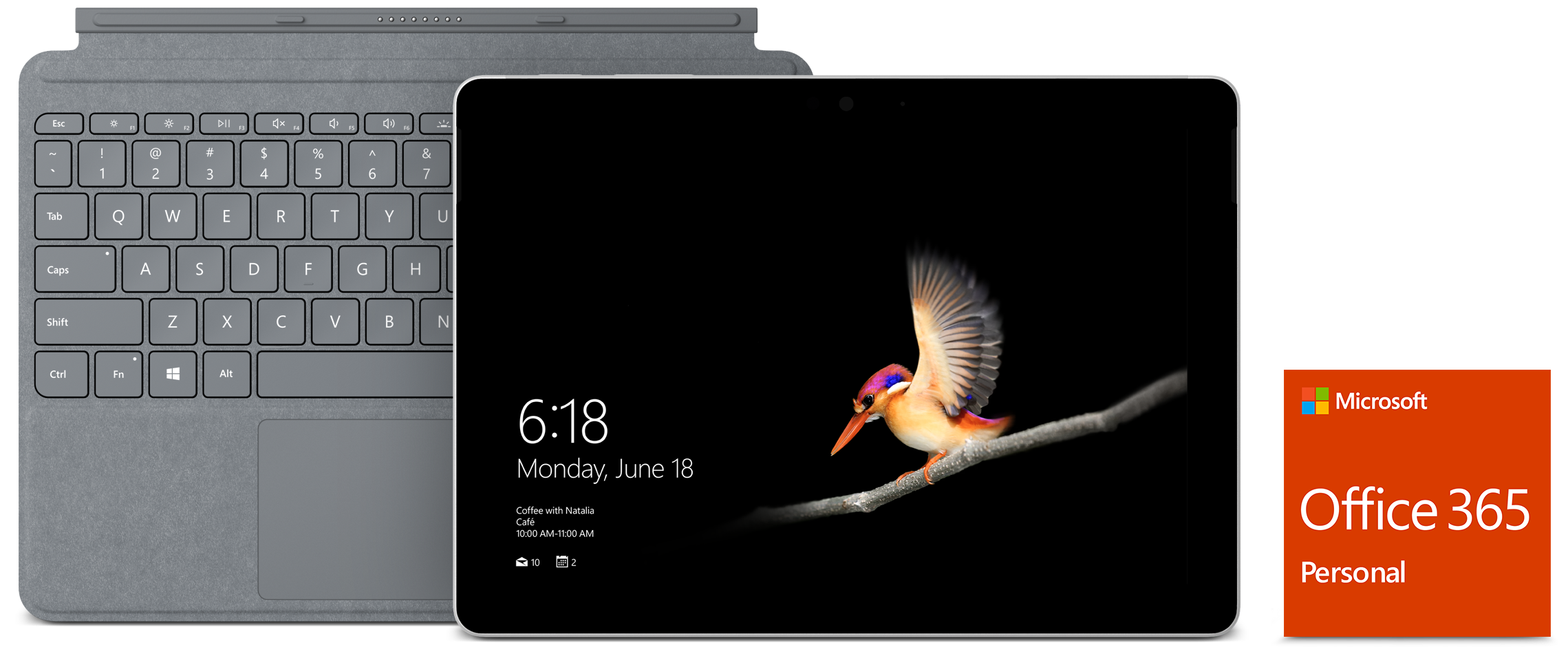 Surface Go with Type Cover and Office 365