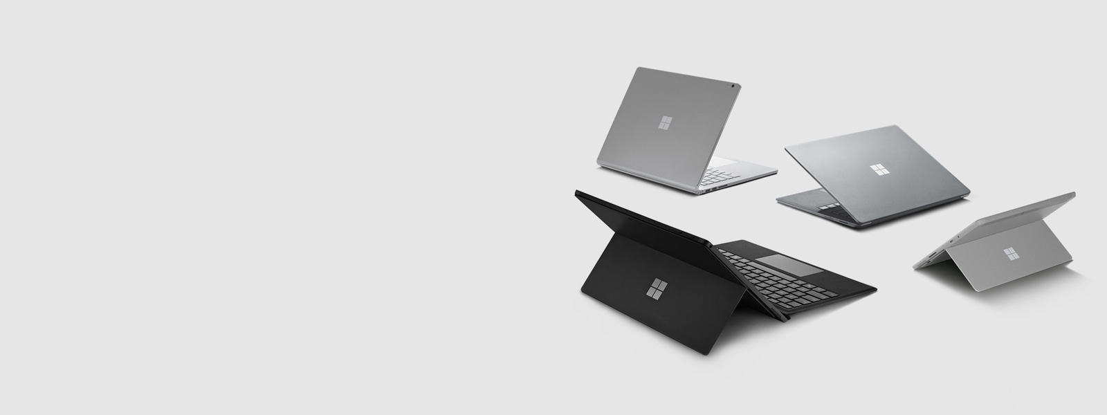Surface Book 2, Surface Pro 6, Surface Go, Surface Laptop 2, Surface Pen, Surface Dial