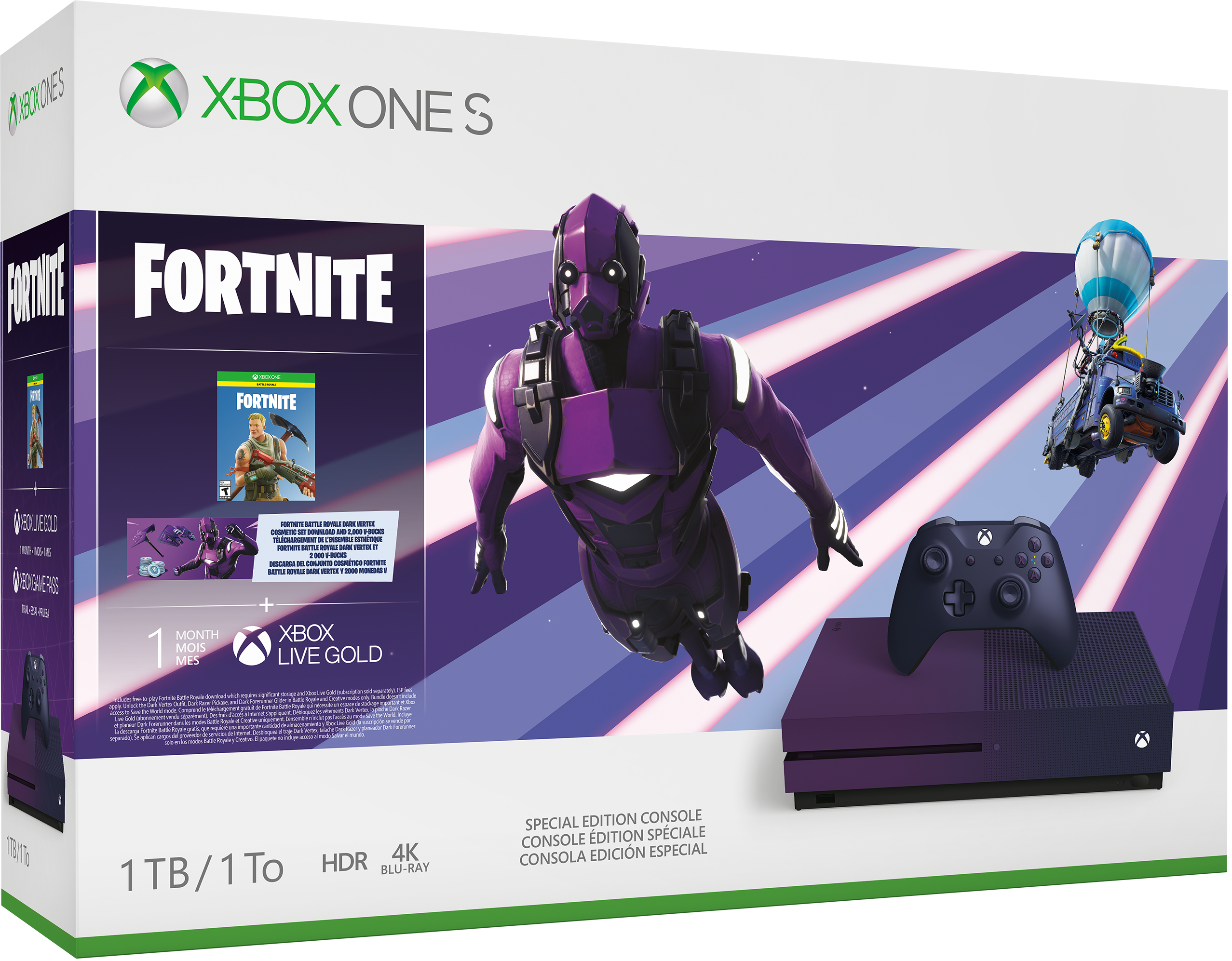 Xbox One S Fortnite Battle Royale Special Edition Bundle (1TB) – Xbox One