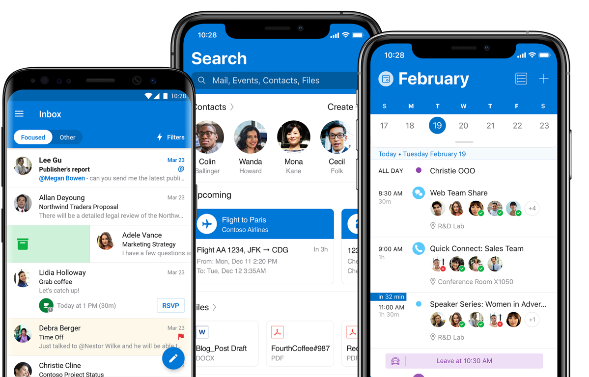 Microsoft Outlook for iOS and Android