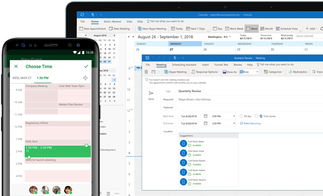 Microsoft Outlook Email, Outlook Calendar & Contacts
