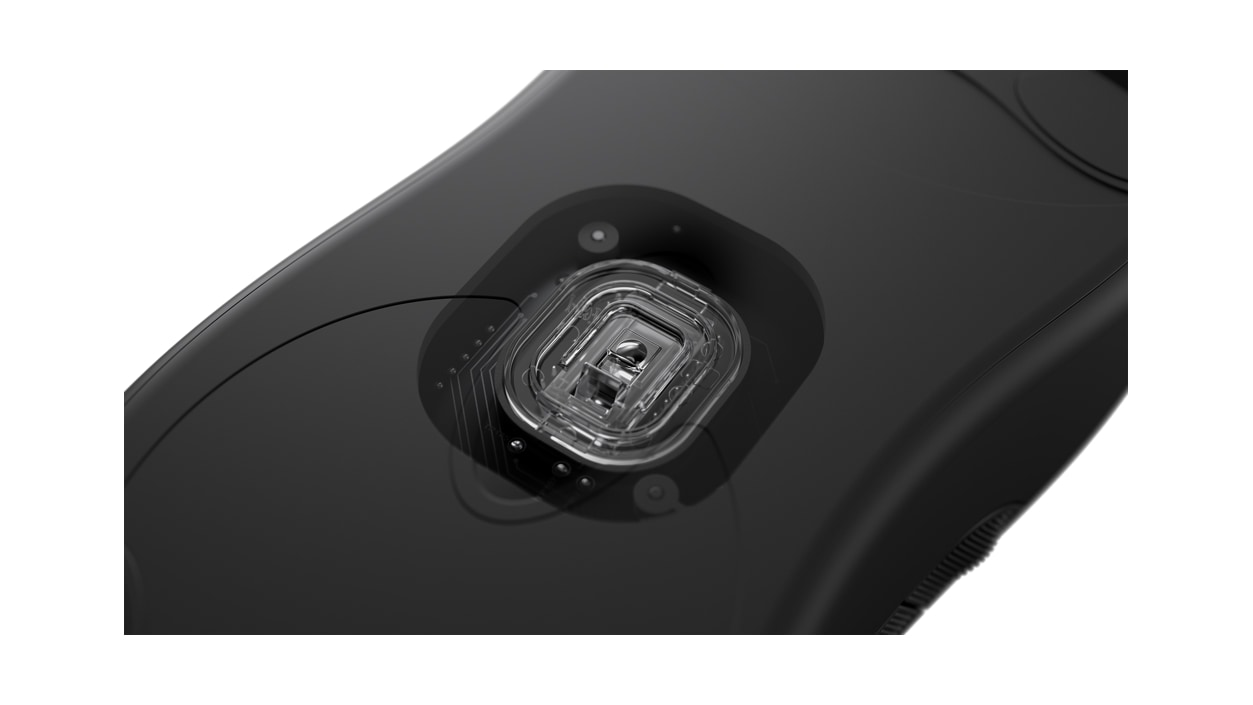 Bottom view of Microsoft Pro IntelliMouse