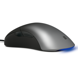 Left side view of Microsoft Pro IntelliMouse in Shadow Black