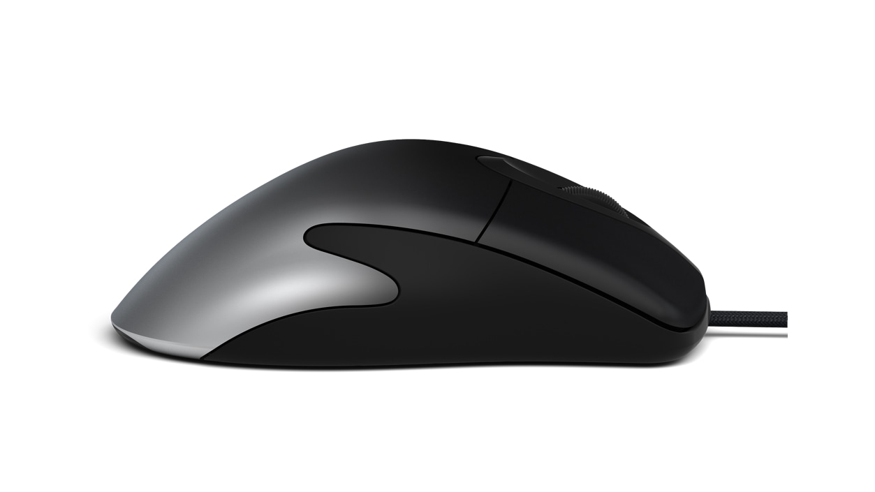 Right side view of Microsoft Pro IntelliMouse in Shadow Black