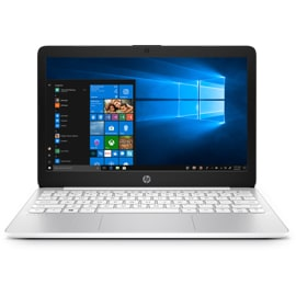 Front view of open HP Stream 11 laptop