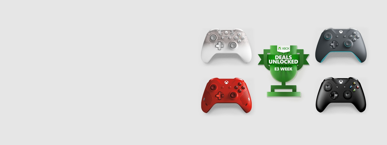 Xbox Wireless Controllers with E3 logo