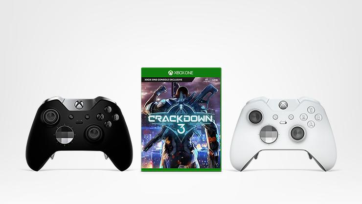 Xbox Elite wireless controller - black, Xbox Elite wireless controller - white, Crackdown 3