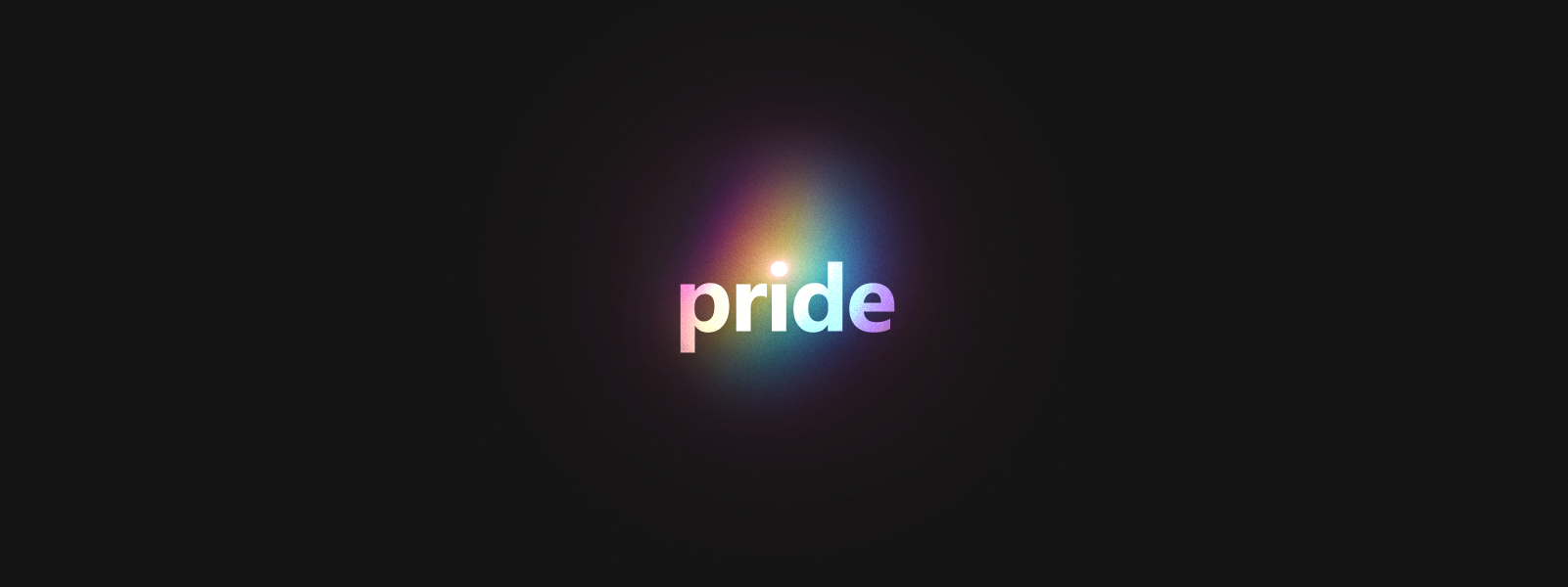 Image of Pride logo with a rainbow glow applied to it