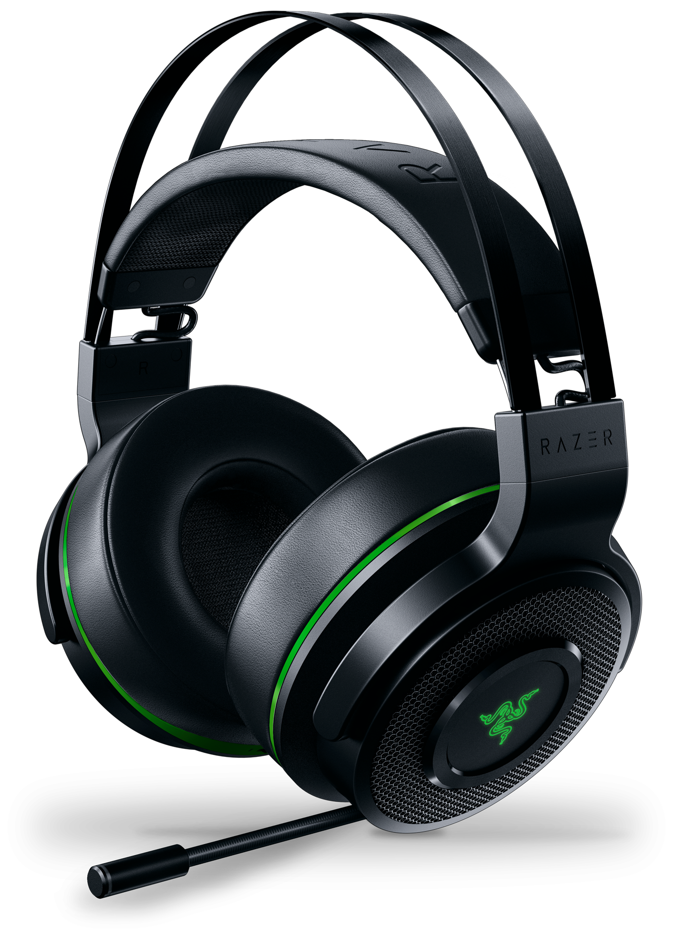 Razer Thresher Wireless Gaming Headset for Xbox One from a side angle