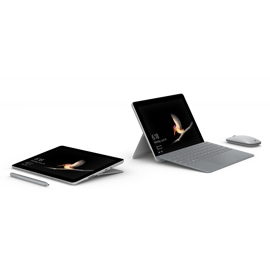Pair of Surface Go devices with Surface Go signature type cover and Surface Pen
