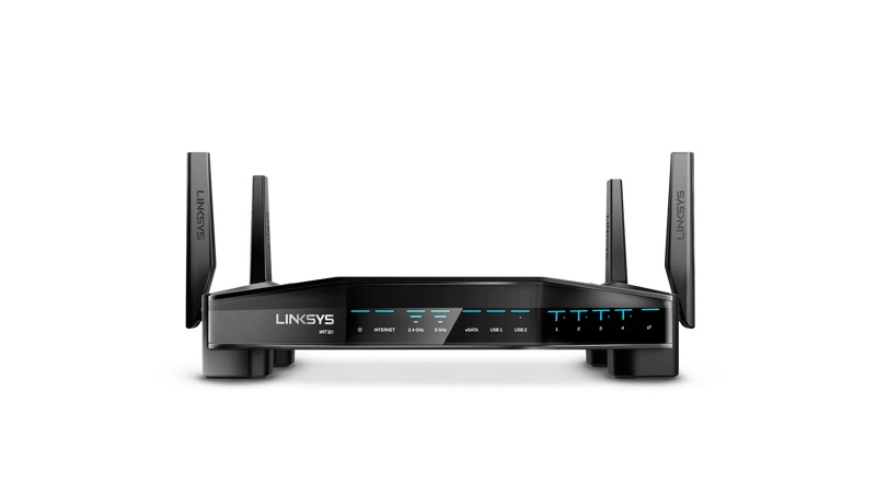Front view of the Linksys WRT32X Gaming Router