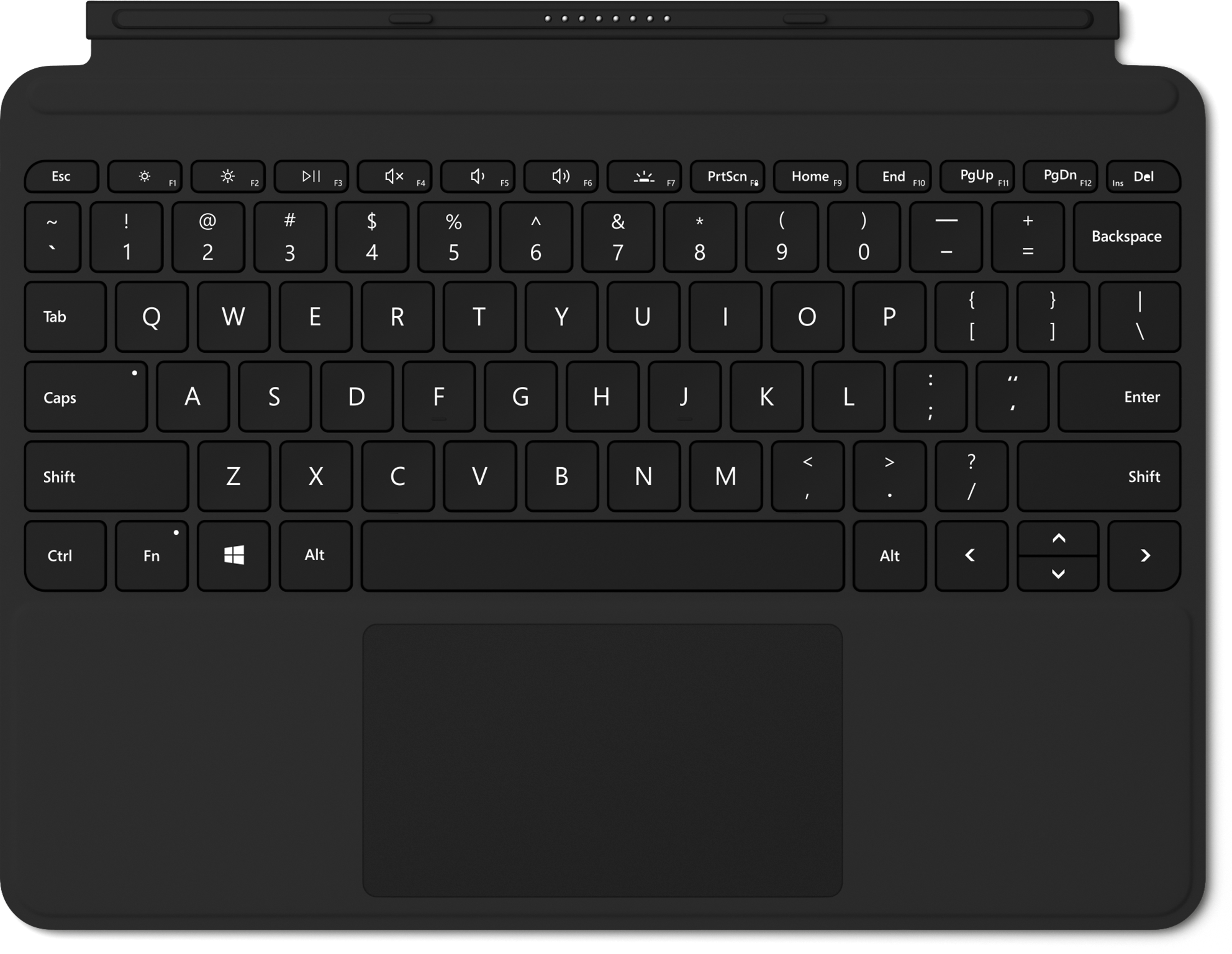 Black Surface Go Signature Type Cover