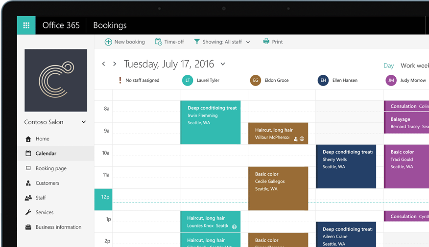 Online Bookings And Appointment Scheduling App Office 365
