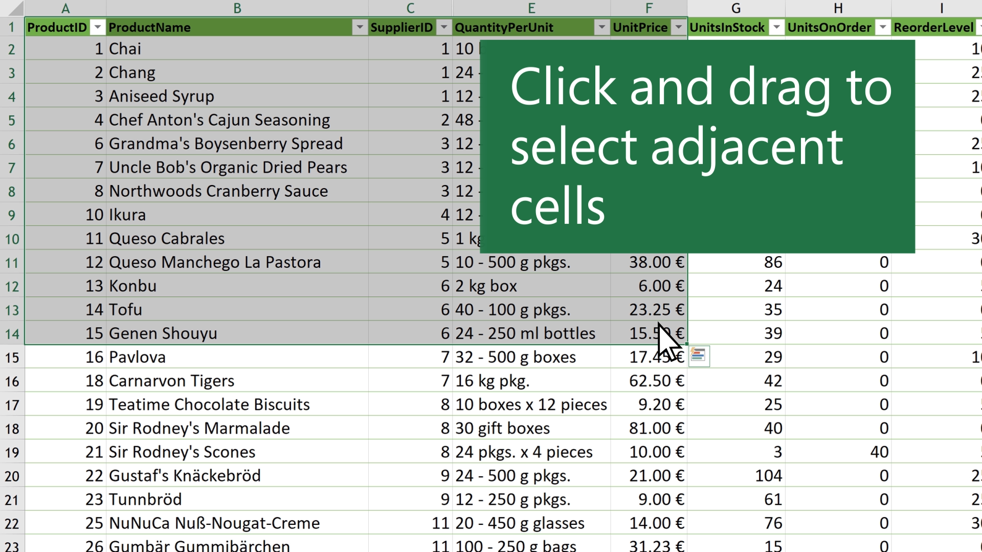 Select Cell Contents In Excel Office Support