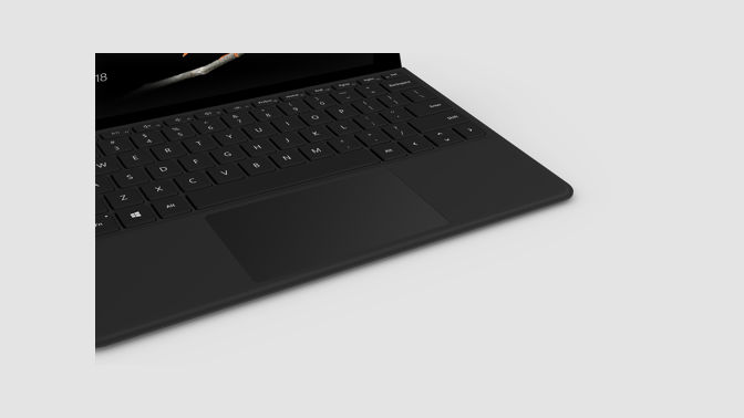 Closeup view of a Surface Go Type cover