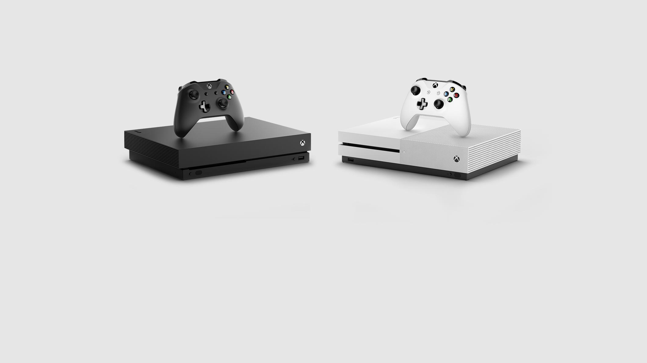 Xbox One X console, Xbox One S console