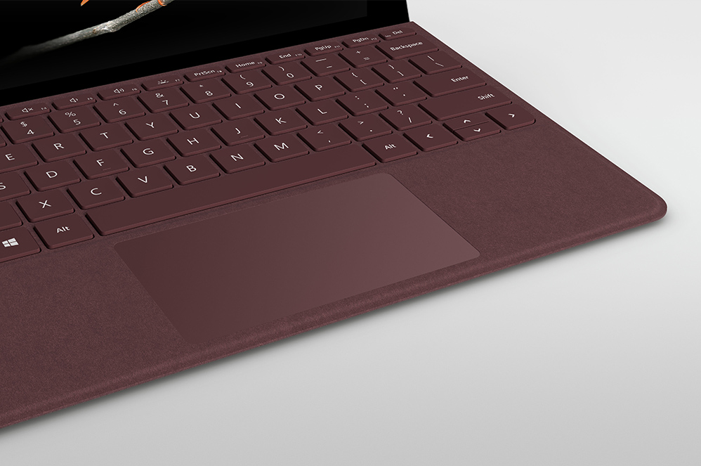 The Surface Go Signature Type cover