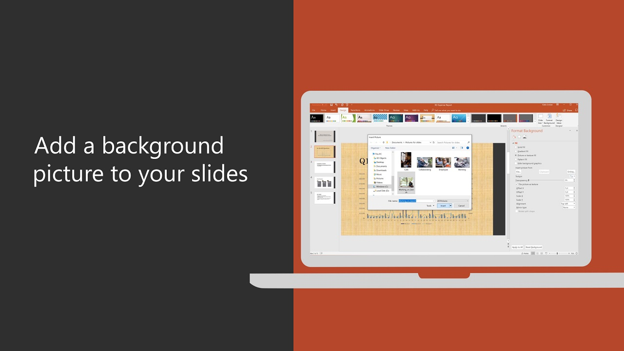how to make your desktop background a slideshow mac